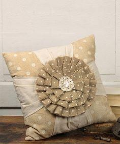 Honey and Me Floral Crisscross Throw Pillow | zulily