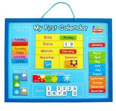 Amazon Com Melissa Doug My First Daily Magnetic Calendar Toy