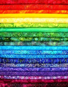 #Rainbow #colors ToniK ❖de l'arc-en-ciel❖❶ Colorful #batik fabric