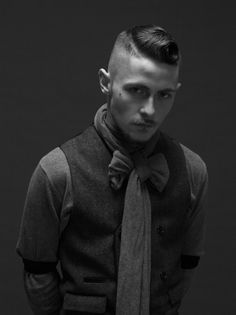 Mens hair style-people-inspired-me Moustaches, Pompadour, Hair And Beard Styles, Short Hair Styles, Rockabilly, Barbers Cut, Cut And Style, Men's Style, Facial Hair