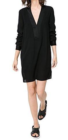 Graceful Women's V Neck Long Sleeve Solid Loose Shift Shirt Dress (Small, Black) Urban CoCo http://www.amazon.com/dp/B00W4RXUV8/ref=cm_sw_r_pi_dp_u3kLvb0ZE820R