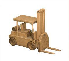 Wooden Forklift Truck Toy – AmishToyBox.com