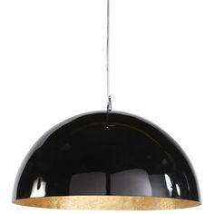 Hängeleuchte AMBRE aus Kunststoff, D 49 cm, schwarz/golden