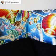 Amei fazer este! By @jessicacremer 👈 Primeira pintura do livro O Feitiço do Tempo! Usei lápis de cor Marco Raffiné e giz pastel oleoso para o fundo. #ofeitiçodotempo #thetimegarden #dariasong #desenhoscolorir #secretgarden #jardimsecreto #marcoraffine
