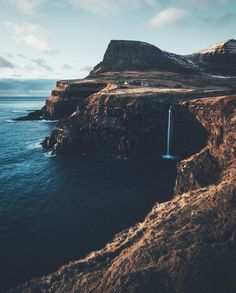 incredible view - nature |  coast - coastline - coastal - cliff - cliffs - waterfall - ocean - sea - natural - wilderness - wild - discover places - explore - adventure - water - moody - dark - aesthetic - hiking - backpacking - camping - wanderlust - trip - bucket list - idea - ideas - inspiration - landscape photography