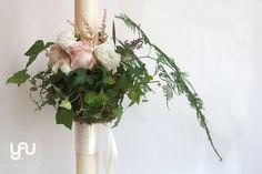 yau concept_yau flori_lumanari de nunta cu roz