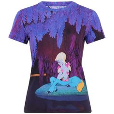 Iven T-shirt Blue Centaur ❤ liked on Polyvore featuring tops, t-shirts, shirts, blue top, blue t shirt, blue colour shirt, blue tee and t shirts