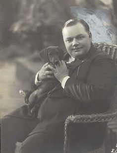 Fatty Arbuckle and a Dachshund Puppy (Not too many people remember Fatty Arbuckle, do they?)