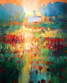 "Contemporary Painting - """"My Neighbor's House 890"""" (Original Art from MARK GOULD FINE ART)"