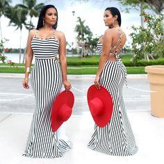 Women Sexy Backless Evening Cocktail Party Long Maxi Dress Summer Beach  Sundress 76aeebba11af
