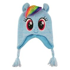 2a6bb770577 Girls  My Little Pony Peruvian Hat - Blue One Size