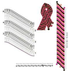 Exceptional Stitches Make a Crochet Hat Ideas. Extraordinary Stitches Make a Crochet Hat Ideas. Crochet Ripple, Crochet Motifs, Crochet Stitches Patterns, Crochet Diagram, Crochet Chart, Filet Crochet, Crochet Designs, Knit Crochet, Crochet Shawls And Wraps