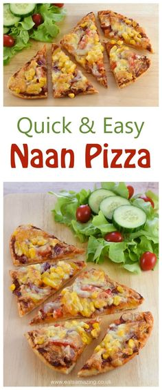 Quick and easy Naan bread pizza recipe - a great midweek meal that kids will love - Eats Amazing UK