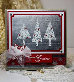 Christmas Card Handmade - Greeting Card - Season's Greetings - Stampin   http://greeting-cards-46.blogspot.com