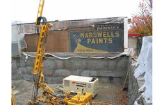 This Marswells Paints sign was uncovered on West in Point Grey and is now hidden by a new infill. Photo courtesy of Heritage Vancouver.