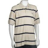 IZOD Men's Short Sleeve Pique Bar Stripe Polo, Rock Heather, Large (Apparel)By IZOD
