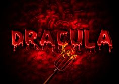 vampire blood text effect in photoshop