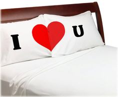 Valentines Day Gift  I Love You Pillow Cases   For Him For Her  Boyfriend Girlfriend  Husband Wife His Hers  I Heart You  Bf Gf