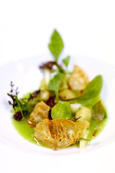 Green Garlic Gnocchi / 17 Stunning Photos Of Chef Charlie Trotter's Food (via BuzzFeed)