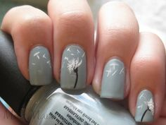 Now this one I would do, I think it is so pretty!  Dandelion Fingernails...