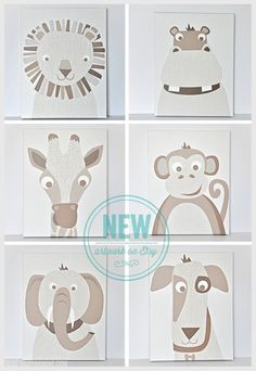 Natural Animals - Canvas Wall Art on Etsy