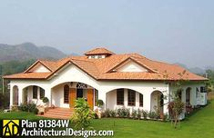 plan 81384w open courtyard dream home plan - Spanish House Plans With Adobe Courtyards