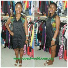 Sleeveless #shirtdress size 10 12 #6000 #qwafrica #asoebibella #asoebi #africanfashion #africanprint #madeinnigeria www.questworld.com.ng