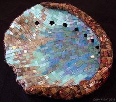 Abalone shell mosaic by Lynne Chinn