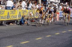 TOUR 1991.-Abdoujaparov suffered a fall in the sprint of the last stage of the Tour of 1991, in the Champs Elysees of Paris, when hitting a pot of giant Coca-Cola promotion.