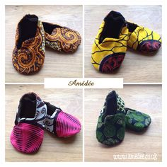 Adorable Ankara Print baby soft shoes for those precious little toes. www.amedee.co.uk