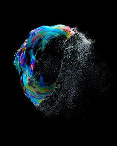 Poppin Bubbles - Iridient by Fabian Oefner, via Behance