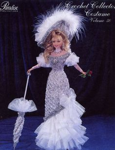 1899 Mae West Stage Costume for Barbie Paradise Vol. 50 Crochet PATTERN OOP