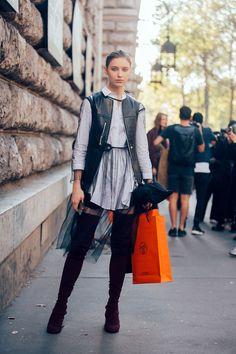 Sofie Tesmenitskaya - On the Street: PFW S/S 17