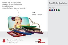 Key Rings – Personalise both sides of this keyring with photos, slogans, telephone numbers or any other fun or important information. Available in: Black, Red, Blue, Green, Purple edges. Size: 68mm x 48mm. Personalised Keyrings, Blue Green, Purple, Telephone, Key Rings, Making Out, Slogan, Numbers, Colours
