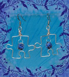 Wire and polymerclay earrings