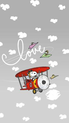 Snoopy in a plane