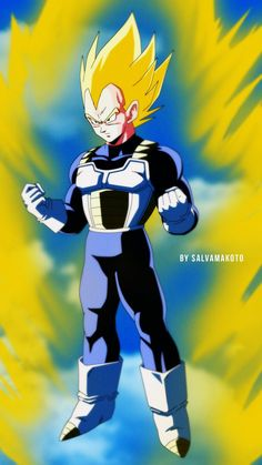 super saiyan vegeta by salvamakoto #SonGokuKakarot