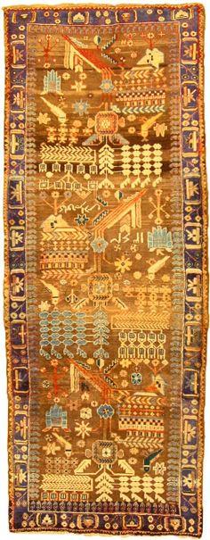Brown 3' 6 x 9' 3 Saveh Rug | Persian Rugs | eSaleRugs
