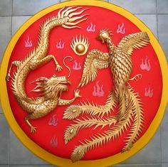 Dragon Phoneix Cake  ----------- #china #chinese #wedding