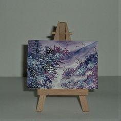 miniature aceo ATC art painting fantasy (ref F230) £3.50