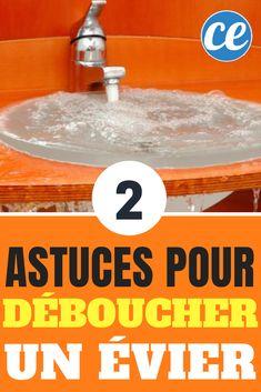 Évier bouché ? Pas de panique ! Voici deux astuces simples pour déboucher un évier naturellement.
