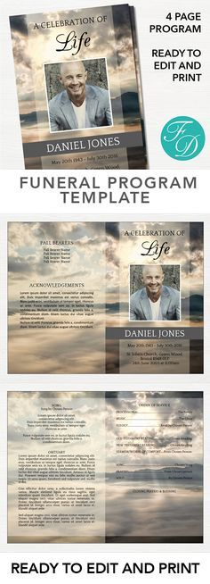 A Free To Download Funeral Program Template Microsoft Word In C