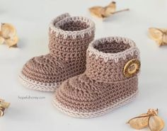 Baby Ankle Booties Free Crochet Pattern