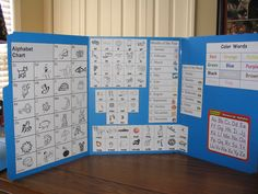 Mini Offices for Kids - has info that they can use right at eye level, and made out of file folders and printables.