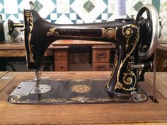 Behold! The rare and coveted National Two Spool sewing machine. c. early 1900s