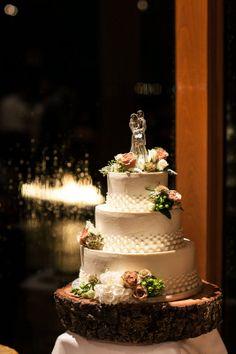 Wedding Cake By Flour Girl, South Lake Tahoe Wedding @ Edgewood, South Lake Tahoe Photo By Eric Turner Photography
