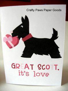 Valentine's Day card  Great Scott It's by CraftyPawsPaperGoods #craftshout0203
