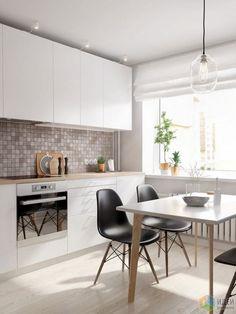 Интерьер в скандинавском стиле, белая кухня фото, белая кухня в скандинавском стиле: