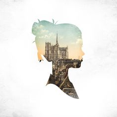 This is a cool photo montage where they took a silhouette of a woman and combined it with a photo of a city to create an amazing final product. The cityscape works great in the middle of the silhouette and the final product is very appealing. Illustration Arte, Illustrations, Autistic Artist, Silhouette Art, London Silhouette, Landscape Silhouette, Silhouette Portrait, Grafik Design, Art Plastique