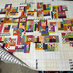 Patricia's quilt at #ebmq, quilted by Sue Fox